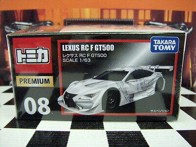 TOMICA PREMIUM #08 LEXUS RC F GT500 1/63 SCALE NEW IN BOX for sale  Shipping to Canada