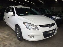 2010 Hyundai i30 FD MY10 CW SX 1.6 CRDi White 5 Speed Manual Wagon Macquarie Hills Lake Macquarie Area Preview