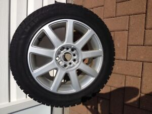 205/55 R16 94T  Winter tires and alloy rims. Studded
