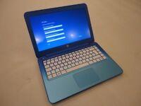 "Blue HP Stream 13"" Laptop running Windows 10, Boxed"