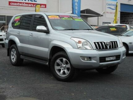 2003 Toyota Landcruiser Prado GRJ120R GXL (4x4) Silver 4 Speed Automatic Wagon Tuggerah Wyong Area Preview