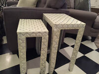 Glam nesting table set