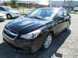2012  SUBARU IMPREZA BLACK ON BLACK, EXCELLENT COND,