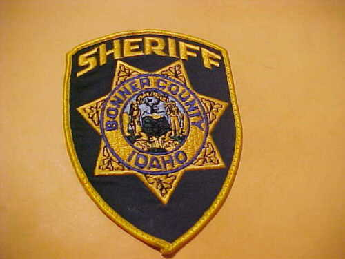BONNER COUNTY IDAHO POLICE PATCH SHOULDER SIZE USED