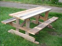 Picnic Table Heavy/Solid - Made To Last 6.5 Feet Long