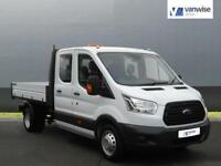 2015 Ford Transit 2.2 TDCi 125ps Double Cab Chassis TIPPER Diesel white Manual