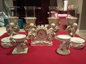 Heavy Ceramic Angel 6 Piece Set from Bowring in Lime Ridge Mall