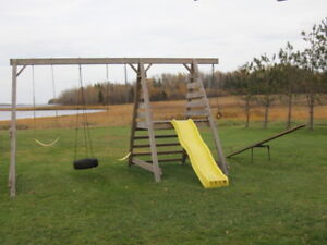 Swing set and tetter totter