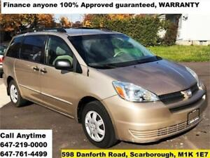 2004 Toyota Sienna CE FINANCE 100% APPROVED GUARANTEED WARRANTY