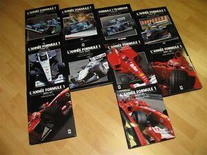 Collection livres F1 L'année formule 1 1997 à 2000-2001
