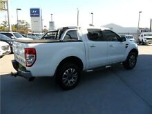 2015 Ford Ranger PX XLT Double Cab Cool White 6 Speed Manual Utility Telarah Maitland Area Preview