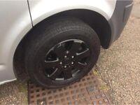"VW Transporter T5 Original 16"" Alloy Wheels & Tyres - Black - £250"