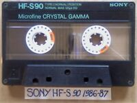 A2Z RARE SONY HF-S 90 T1 NORMAL CASSETTE TAPES 1986-1987 W/ CC & LABELS & FREE P&P