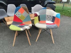 chaise eames, eiffel chair, Chaise Organique, patchwork