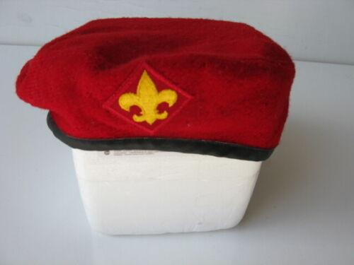 Boy Scouts of America Wool Red Beret, Medium