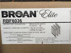 "Brand New - Broan Elite RBF6036 36"" Baffle Filter Kit"