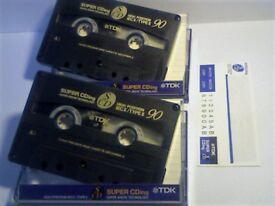 TDK SUPER CDing SCD 90 CHROME CASSETTE TAPES. UK RARITY.