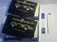 TDK SUPER CDing SCD 90 CHROME CASSETTE TAPES. UK RARITY.