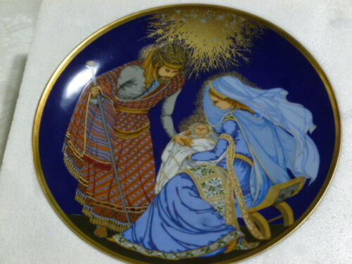 """HUTSCHENREUTHER """"The Glory of Christmas""""  The Nativity 1982 Collector Plate NIB"""