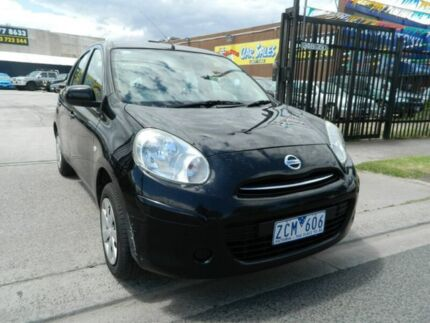 2012 Nissan Micra K13 ST Black 5 Speed Manual Hatchback Williamstown North Hobsons Bay Area Preview