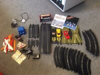 Scalextric track cars toy various pieces USED