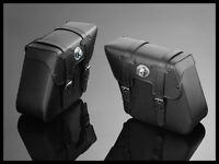 Highway Hawk leather saddlebags panniers with locks