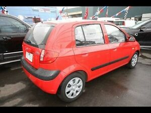 2009 Hyundai Getz S TB Red 5 Speed Kingsville Maribyrnong Area Preview