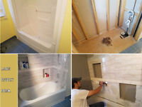 Complete bath. reno, tile installation by experienced installer