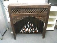 Decorative Fireplace surround with light .