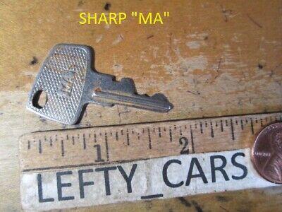 1 Sharp Cash Register Ma Metal Cut Vintage Key - Used