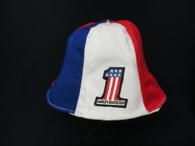 Used, RARE Vintage Early 1970's NOS HARLEY DAVIDSON Red White Blue No1 Beanie Hat   for sale  Shipping to Canada