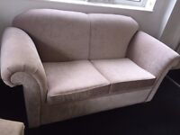 New beige upholstered 2 seater sofa - AMAZING CONDITION