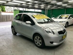 2007 Toyota Yaris NCP91R YRS Silver 4 Speed Automatic Hatchback