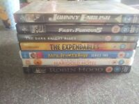 DVDS X 7 TWO UNOPENED £10