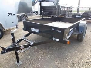 5 X 8 UTILITY TRAILER - LOAD TRAIL  SOLID SIDES