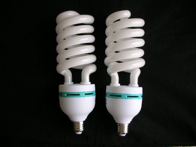 Outstanding High Quality 2 x 120V 85W 5500K E27 Daylight Studio Light Bulbs CFL