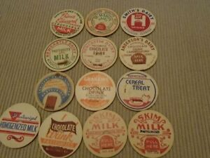 Vintage Dairy Milk Bottle caps / tops  For Sale $2 each 3 for $5