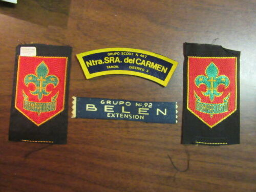 Argentina Lot of 4 Boy Scout Patches      eb25