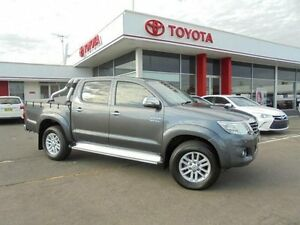 2013 Toyota Hilux KUN26R MY12 SR5 (4x4) Charcoal Grey 4 Speed Automatic Dual Cab Pick-up Belmore Canterbury Area Preview