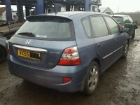 HONDA CIVIC 1.6 BREAKNG FOR SPARE PARTS PLEASE CALL 07593085858