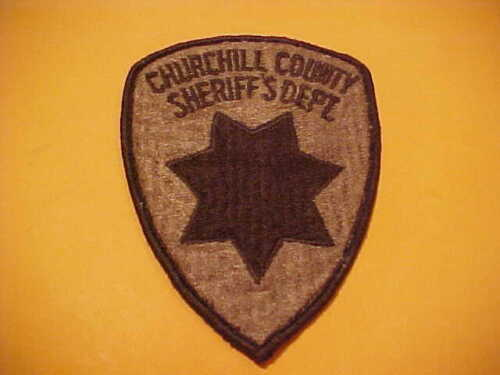 CHURCHILL COUNTY NEVADA POLICE PATCH SHOULDER SIZE USED BROWN