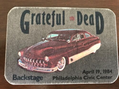 Grateful Dead - April 19, 1984 - Civic Center Philly - backstage pass