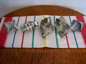 Vintage Aluminum Christmas Cookie Cutters in Original Box, Qty 5 Kitchener / Waterloo Kitchener Area image 3