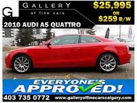 2010 Audi A5 2.0T AWD $259 bi-weekly APPLY NOW DRIVE NOW