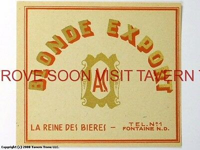 Scarce France A C Blonde Export Biere Tavern Trove French Beer (French Blonde Beer)