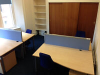 Desk space available in Glasgow City centre £100 for first 3 months then £150 thereafter +Vat