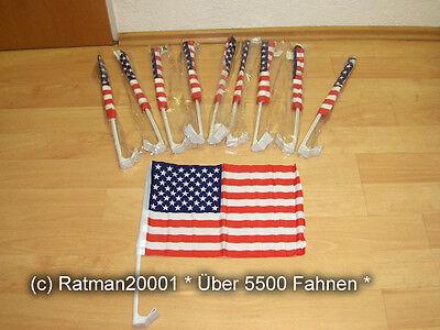 Fahnen Flagge 10 x USA Auto Fahne Autoflagge - 30 x 45 cm
