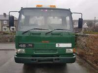 leyland daf FA 45.150 recovery truck with 2nd car lift