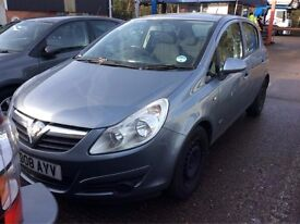 2008 VAUXHALL CORSA 1.3 CDTI DIESEL MANUAL CLUB 5 DOOR HATCHBACK MOT GOOD DRIVE NOT ASTRA FIESTA KA