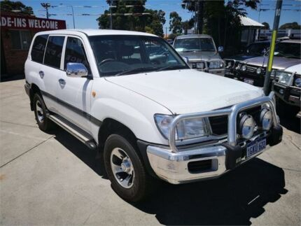 2000 Toyota Landcruiser HZJ105R GXL (4x4) White 5 Speed Manual 4x4 Wagon Cannington Canning Area Preview